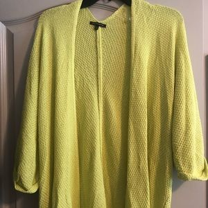 NWOT Staccato Sweater Cardigan 3/4 Yellow SM/L